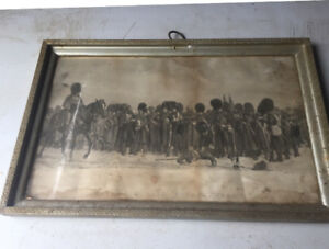Antique print The Role Call Crima 1854-5 by lady butler