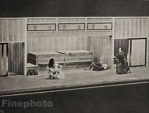 1929-JAPAN-Photo-Gravure-TOKYO-JAPANESE-THEATRICAL-DUEL-Fight-Performance-Art
