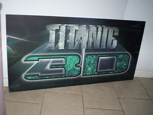 large Titanic 3D fiberglass ?? sign