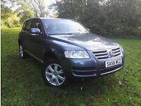 Volkswagen Touareg 2.5TDI auto 2006 56 SE SAT NAV FULL LEATHER HPI CLEAR FSH