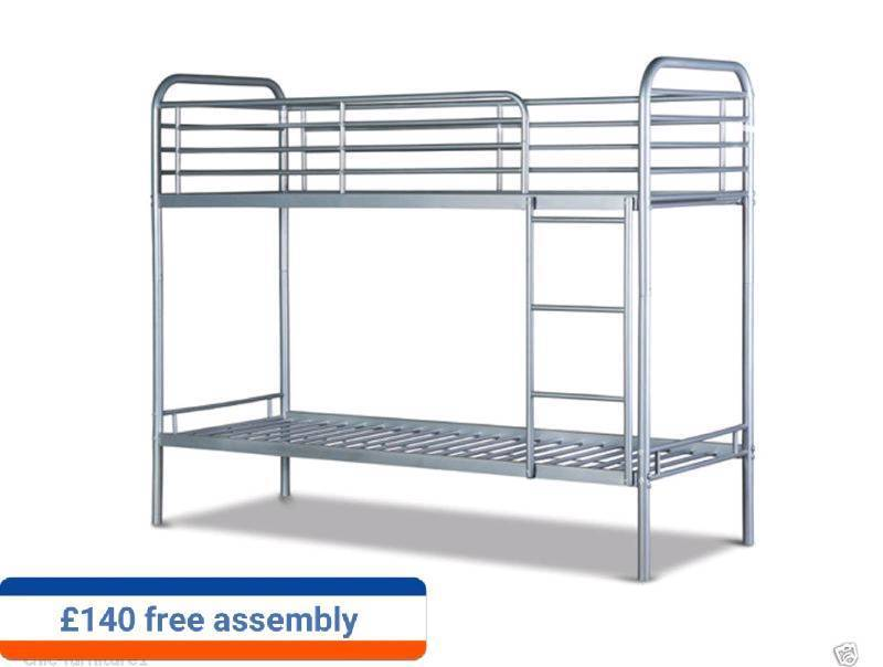 metal bunk bed in 3ft and toddler size both available with assembly