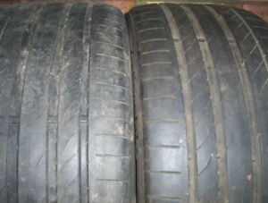 2 tires Continental Extreme Contact 205/55 ZR 17 for sale.