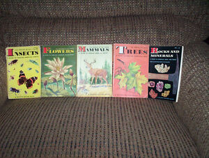 5 golden nature guides Mammals Trees Insects Flowers Rocks &