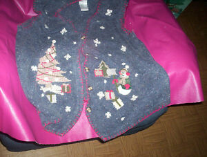 womens 2X Christmas Xmas ugly sweater vest