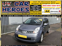 2008 NISSAN NOTE 1.6 16v TEKNA LOW 66,000 MILES*12 MONTH WARRANTY INCLUDED
