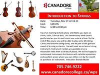 Canadore College, Parry Sound, Introduction to Strings
