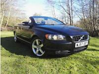 2007 57 Volvo C70 Sport 2.4 D5 Diesel Convertible Auto FSH LEATHER TRIM