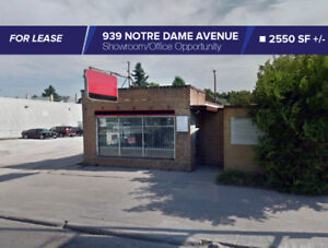 FOR LEASE/2550 SF 939 Notre Dame Ave Office/Showroom Opportunity