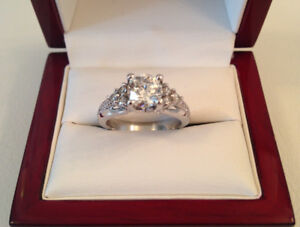 SAVE $12,220 1.27TCW GIA Cert 1.01ct, SI2, I Brand New Condition