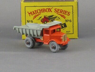 Vintage 1954 Matchbox 6a Quarry Truck Pristine Mint and Boxed Original Beauty
