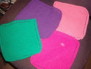 Lots of knitted dishcloths!! 100% cotton $1.25 Ea.Can Deliver!