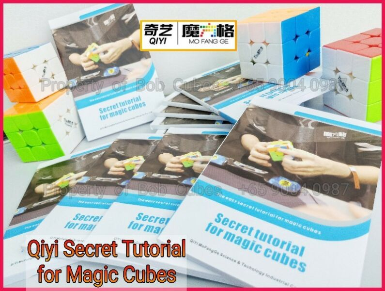 ~ Qiyi Secret Tutorial for Magic Cubes Book For Sale