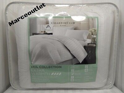 Charter Club Vail Level 4 Extra Warmth FULL / QUEEN White Down Comforter