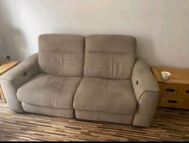 Reclining 3 seater sofa & reclining chair