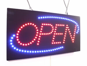 LED Open Signs, Window Signs and Business Signs
