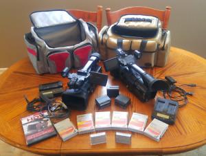 TWO SONY HVR-Z1U Video Cameras