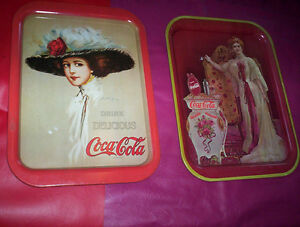 replica Coca-Cola Coke Lillian & Hamilton King tray 1969 & 1971