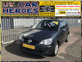 2006 VOLKSWAGEN POLO SE 1.4 (75PS) AUTOMATIC 5 DOOR + 12 MONTH WARRANTY INLCUDED