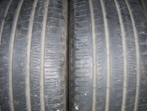 2 tires Michelin Pilot Sport 265/40 ZR 18 good used for sale.