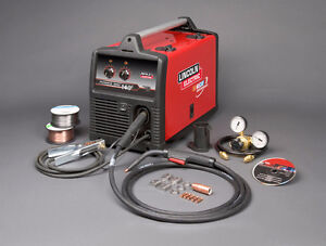 Lincoln Mig Welder 140 with a filled Argon Tank