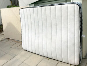 Mattress with boxspring and frame