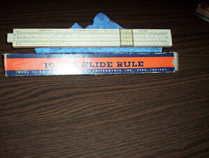 "vintage 10"" slide rule $10. each"