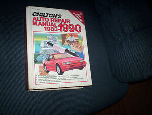 Chiltons Auto Repair Manual 1983-1990 HC 8 years of coverage