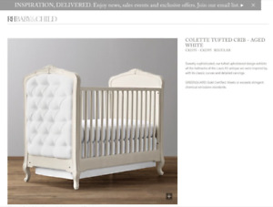 Restoration Hardware Crib and dresser