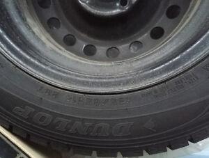 4 - Dunlop Snow Tires and Rims 185/65R15 Kitchener / Waterloo Kitchener Area image 1