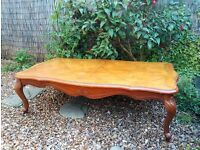 French Style Coffee Table Beautiful and Large Piece of Furniture