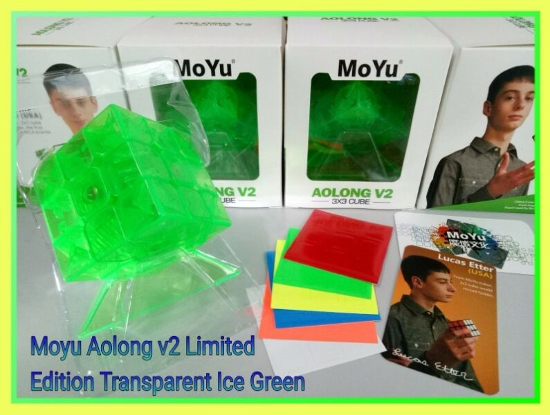 > Moyu Aolong v2 Limited Edition Transparent Ice Green for sale