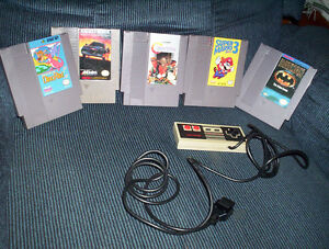 lot of 5 NES Nintendo games & controller Contra, Super Mario 3