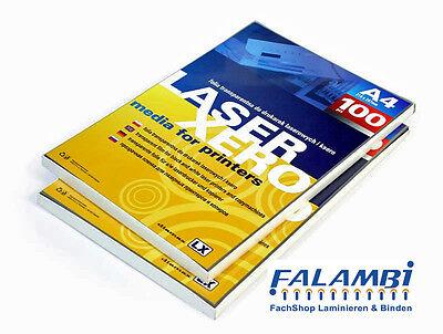 100 OHP Folien für Kopierer und Laserdrucker, Druckerfolie transparent