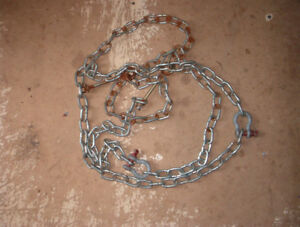 """10 ft of small chain ,1 1/4 """" link $10 can deliver"""