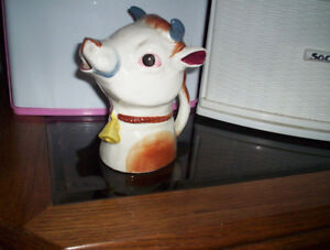 vintage cow creamer vases glass ornaments cat dishes planters