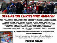 Operation Christmas Ambush~Helping the homeless in our community