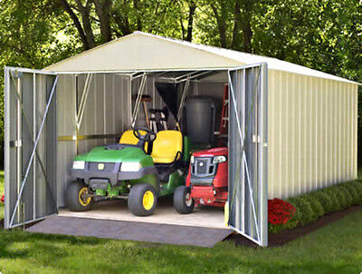 Arrow 10x10 Mountaineer Metal Storage Shed Kit with Dual Entry (MHD1010 & DKGA)