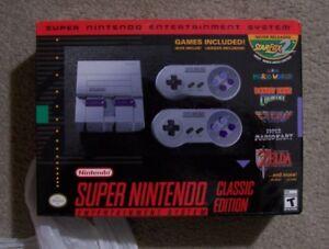 New In Box NINTENDO SUPER NES MINI CLASSIC CONSOLE Receipt Incl.