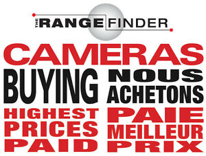 We buy/Nous Achetons Cameras et Objectifs (Sell your Cameras/Lenses) Nikon, Leica, Sony, Zeiss, Fuji, Digital, & Film