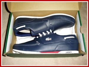 Lacoste Mens Dreyfus SPM-LTH Dark Blue/White Fashion Shoes S:10