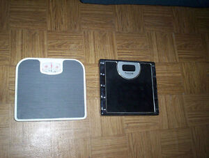bathroom scales & electric knife $10. each