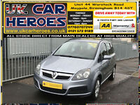 2007 VAUXHALL ZAFIRA LIFE 1.6 PETROL(A/C) 7 SEATER+12 MONTH WARRANTY INCLUDED