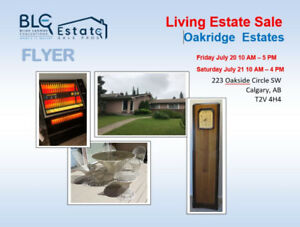 Estate Sale Calgary 2 Days Only! 226 Oakside Circle SW