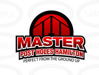 Perfect From The Ground Up!  Master Post Hole Fence Posts