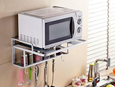New Arrival Removable 2 layer Alumimum Microwave Oven Wall Mount Shelf