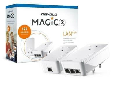 NEW devolo Magic 2 LAN Triple Starter Kit - 2400Mbps Powerline - 8512