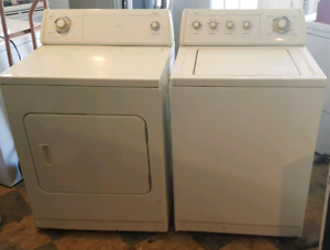 Whirlpool extra large capacity washer dryer set both work great