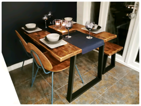 2020 delivery rustic reclaimed dining tables and benches