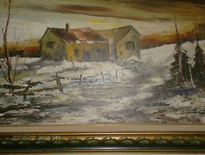 Original Landscape Piece by Claude Langevin