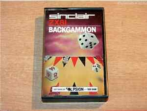 ZX81 Backgammon game tape